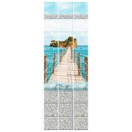 "Панель ПВХ ""Кронапласт"", Голубая лагуна, Мост"