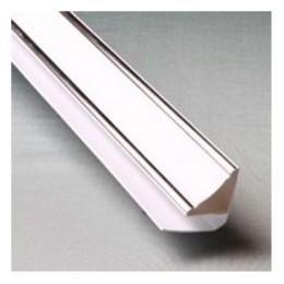 Плинтус потолочный люкс серебро - Кронапласт