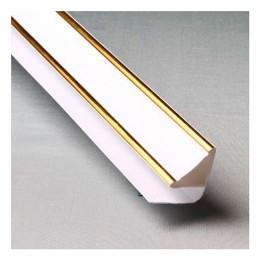 Плинтус потолочный люкс золото - Кронапласт