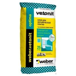 Клей плиточный Weber Vetonit optima
