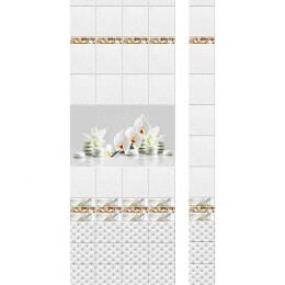Панель ПВХ Новита Белая орхидея с мерцанием