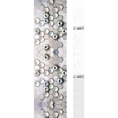Панель ПВХ Новита Геометрия Silver SF