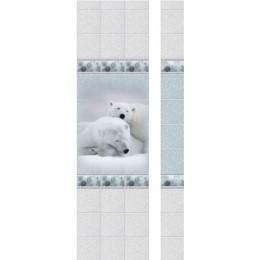 Панель ПВХ Новита Зимняя сказка Медведь с мерцанием