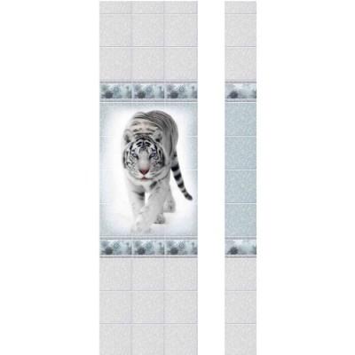 Панель ПВХ Новита Зимняя сказка Тигр с мерцанием