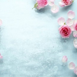 Потолочная панель ПВХ Ледяная роза
