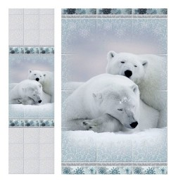 Панель ПВХ Зимняя сказка - медведь