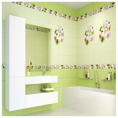 Панель ПВХ Яблоневый цвет зеленый