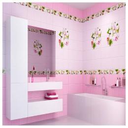 Панель ПВХ Яблоневый цвет розовый